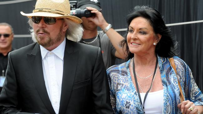 Gibb's wife Linda inspired the love songs on In The Now. Picture: News Corp Australia.
