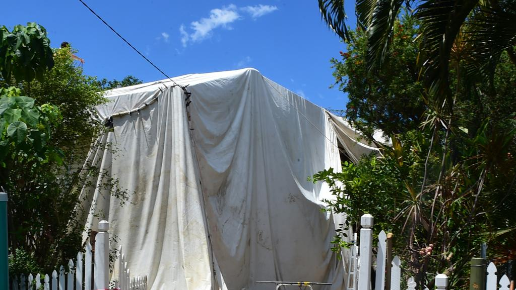 House along Ninth Avenue, Railway Estate being fumigated. Picture: Evan Morgan