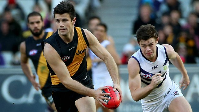 Leader ... Trent Cotchin in growing into his role as captain.