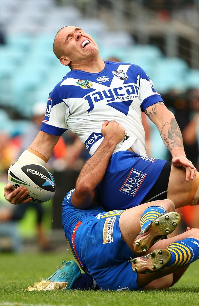 David Klemmer injures his ankle.