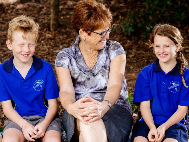 The tests serve as a marker of a school's performance. Western Sydney's Seven Hills North Public School received high gains last year. Picture: Jonathan Ng