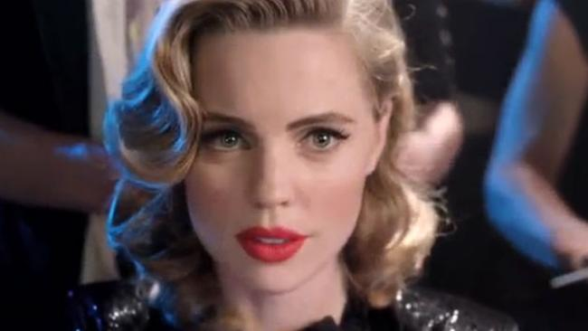 Melissa George in the Agent Provocateur advertisement. Picture: Screengrab