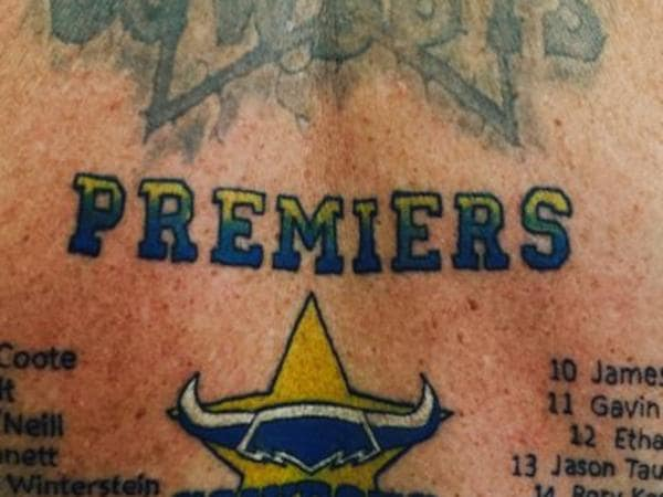 NRL fan's outrageous tattoo