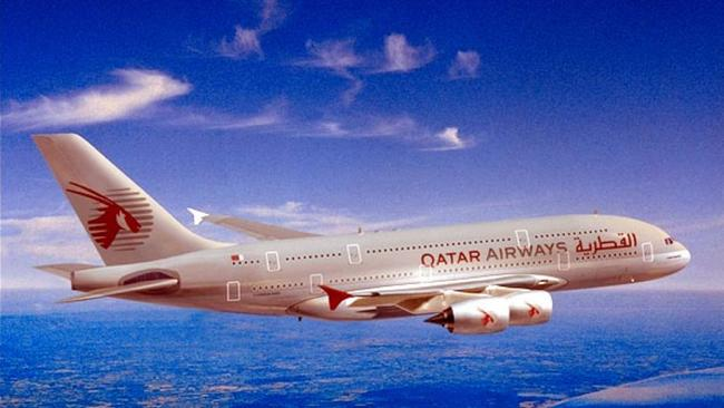 A Qatar Airway's A380. Picture: Supplied