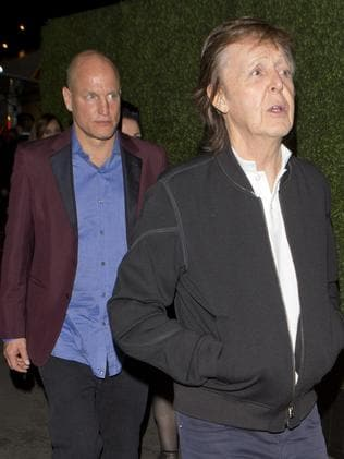 Sir Paul McCartney and Woody Harrelson were rejected from an after-party. Picture: SPW/Splash News
