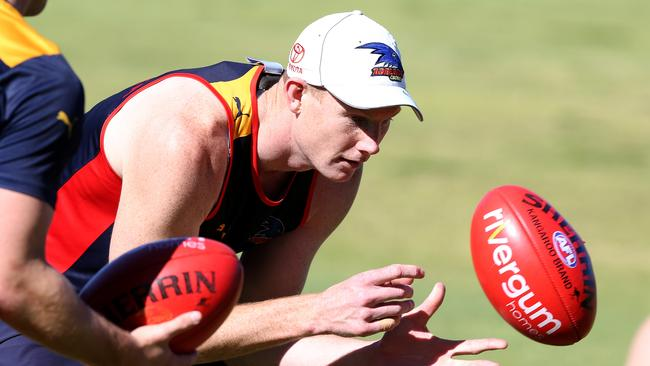 Adelaide's Sam Jacobs is the top-ranked ruckman in the competition. Picture: Sarah Reed