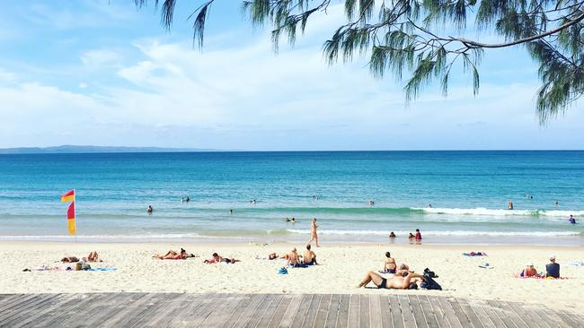Main Beach at Noosa, which is a popular spot for holidaymakers. Photo: Chantay Logan. Source: Supplied
