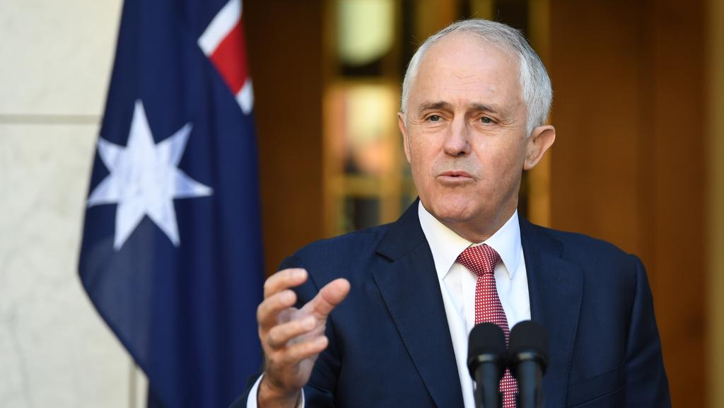Prime Minister Malcolm Turnbull insists citizenship must reflect Australian values as he unveiled tighter requirements for new applicants. (Pic: AAP/Lukas Coch)