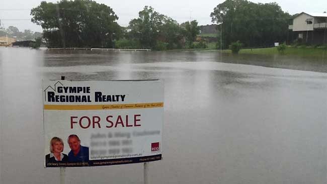 TOUGH SELL: Gympie, north of Brisbane, has been flooded for the fifth time in two years. Picture: Kathleen Donaghey