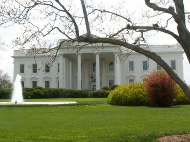 The White House is in lockdown. Picture: Elisabeth Mealey.