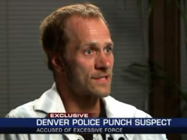 On camera ... Levi Frasier recorded video that he said shows a Denver Police officer using excessive force against Latino suspects. Source: FOX 31