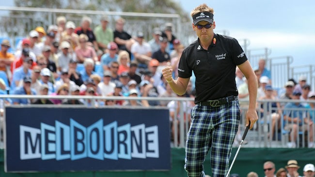 Ian Poulter is back to defend his Australian Masters title.