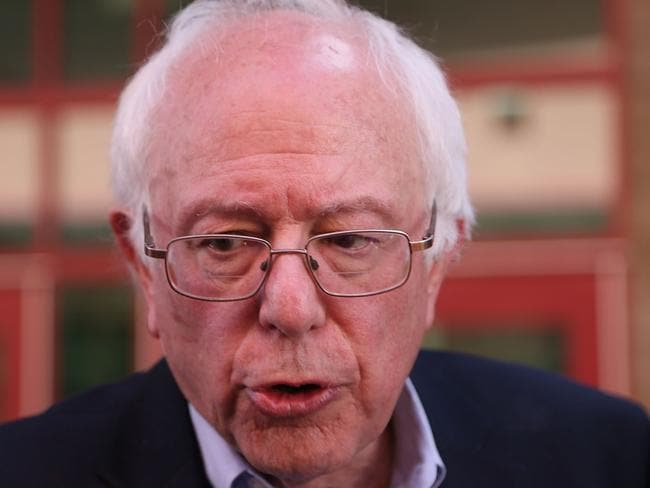 Democratic presidential candidate Senator Bernie Sanders did best with voters looking for a candidate who is caring and honest. Picture: Joe Raedle/Getty Images/AFP