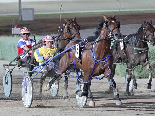 Welcome back: the super popular Lennytheshark makes his return to track at Melton. Picture: Stuart McCormick