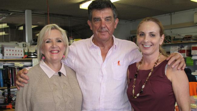 Jane Caro in the classroom with teachers Ken and Helen. Picture: ABC