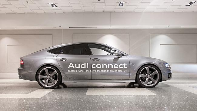 Policing you ... Audi has installed an anti-fatigue camera under the rear-view mirror to detect when the driver nods off.
