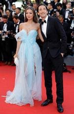 "Lara Lieto and Adrien Brody attend the ""Ismael's Ghosts (Les Fantomes d'Ismael)"" screening and Opening Gala during the 70th annual Cannes Film Festival at Palais des Festivals on May 17, 2017 in Cannes, France. Picture: Getty"