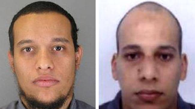 So much hatred ... Paris-born brothers Said and Cherif Kouachi killed 12 people, including two police officers, in their terror rampage. Picture Getty