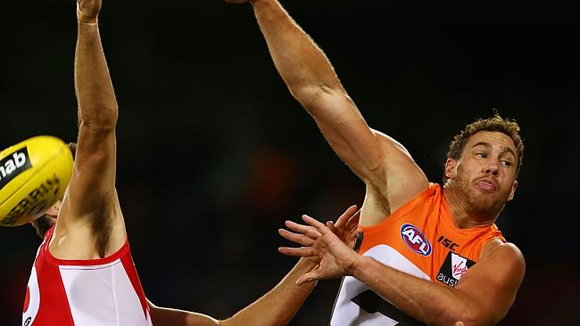 Shane Mumford is one of five experienced players to join the Giants in the off-season. Photo by Mark Nolan