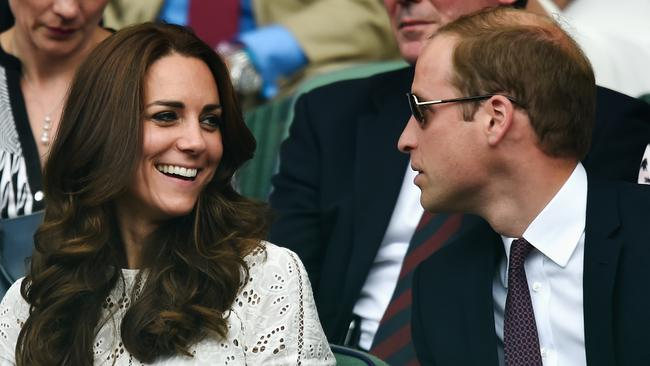 Kate and Wills share a laugh in the Royal Box (recognise that Zimmermann dress from her Aussie visit?)