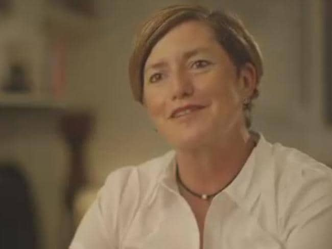 Christine Forster gives a revealing insight to Pat Abboud on her life with partner Virginia Edwards and her close relationship with her brother Tony Abbott. Picture: Screengrab.