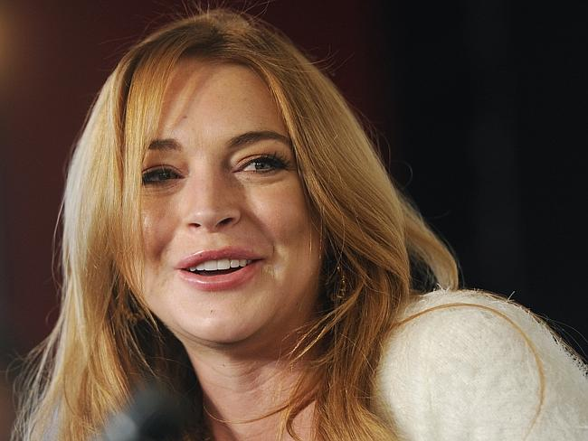 Career woes. Lindsay Lohan speaks to reporters at the 2014 Sundance Film Festival in Park City, Utah earlier this month. Her latest film project is struggling to attract funding. Picture: AP