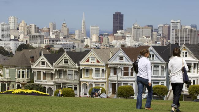 The ?painted ladies? of San Francisco. Picture: Supplied