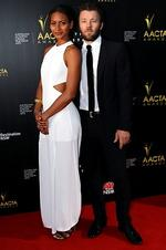 <p>Joel Edgerton and Alexia Blake - 2013 AACTA Awards at The Star in Sydney. Picture: Craig Greenhill</p>
