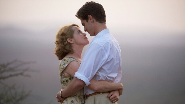 Claire Foy and Andrew Garfield in 'Breathe'. Photo: Transmission