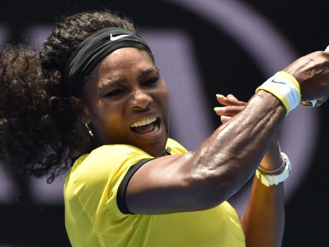 Serena Williams overpowered Sharapova once again.