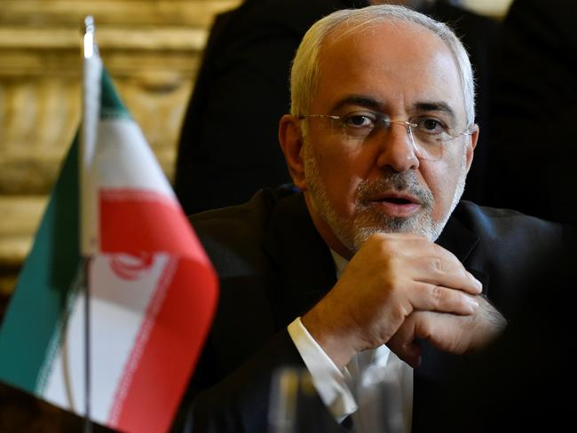 Iran Foreign minister Mohammad Javad Zarif Khonsari. Europe and Iran are to put on a united front in support of the 2015 nuclear deal at talks in Brussels. Picture: AFP