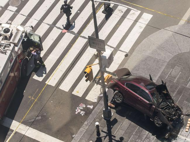 Nearly two dozen people were injured in the incident. Picture: AFP.