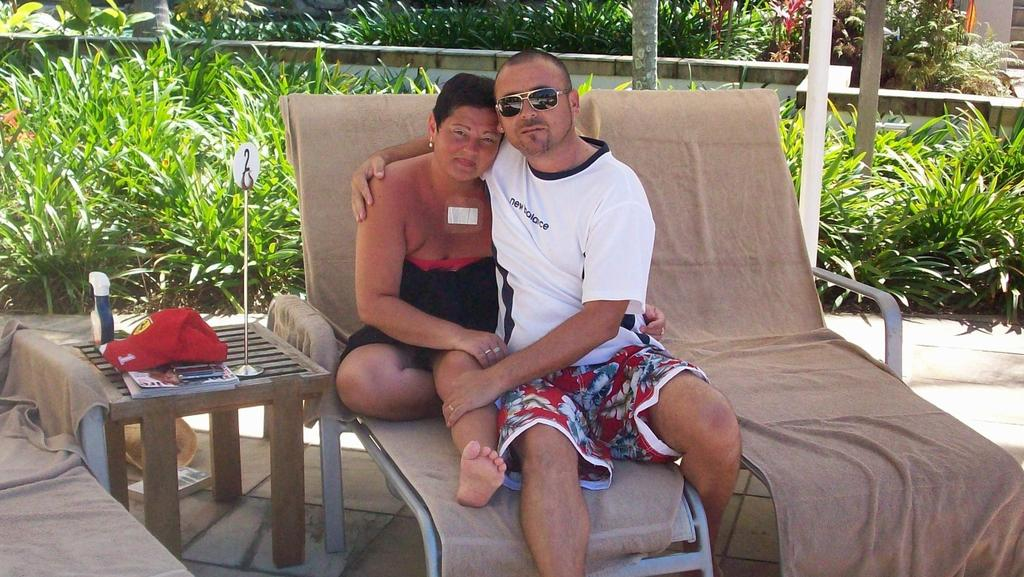 Husband and wife Frank and Lepa Alesi on holiday in Queensland.