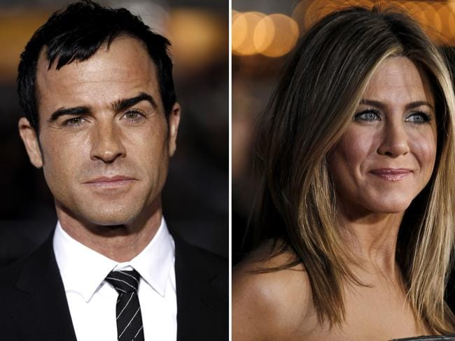 Engaged ... Justin Theroux, left, and Jennifer Aniston.