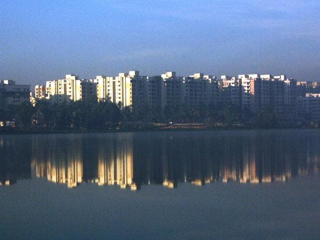 The lake is in Bangalore, which is India's technology hub, home to 8.5 million people. Picture: Anoop Kumar