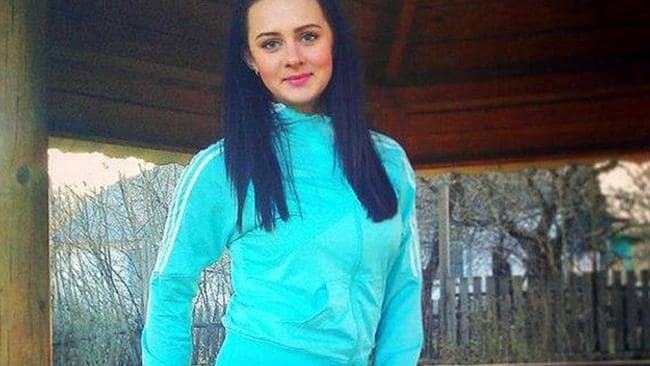 Stunned the world ... Ekaterina Parkhomenko, a young pro-Russian Ukrainian woman from the separatist east region posted pictures of herself on Instagram claiming she was wearing make-up looted from the downed Malaysian Airlines flight. Picture: Instagram