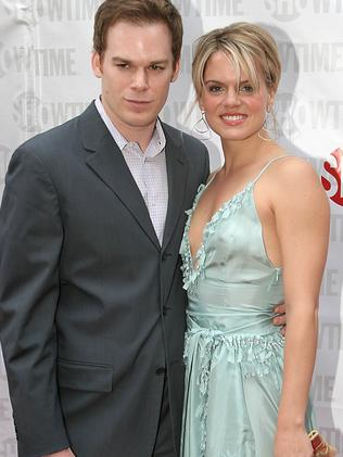 First marriage ... Michael C Hall and Amy Spanger wed in 2002. Picture: Jackson Lee/Splash News