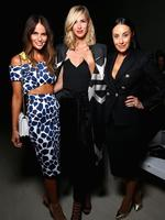 Keep up to date with all the famous faces at Mercedes-Benz Fashion Week Australia... Jodi Anasta, Nikki Phillips and Terry Biviano attend the By Johnny show on April 13, 2015 in Sydney, Australia. Picture: Getty