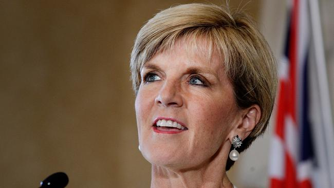 Guarantee given ... Julie Bishop says she will not challenge the leader.