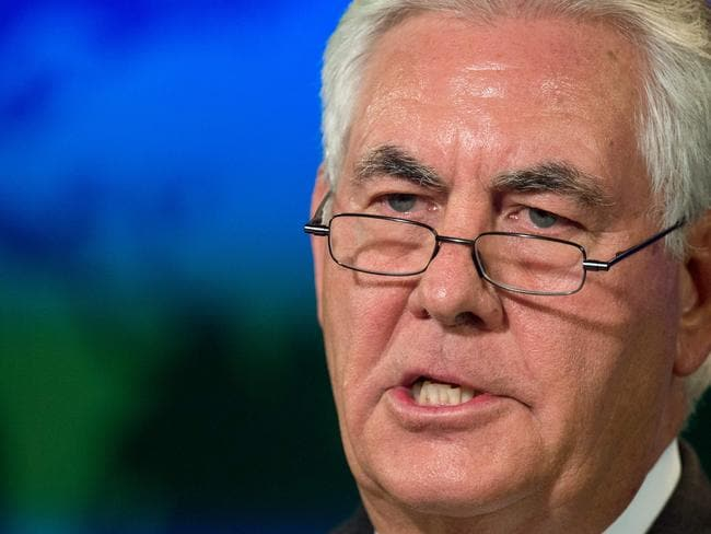 US Secretary of State Rex Tillerson has warned North Korea on its 'provocative' acts. Picture: AFP