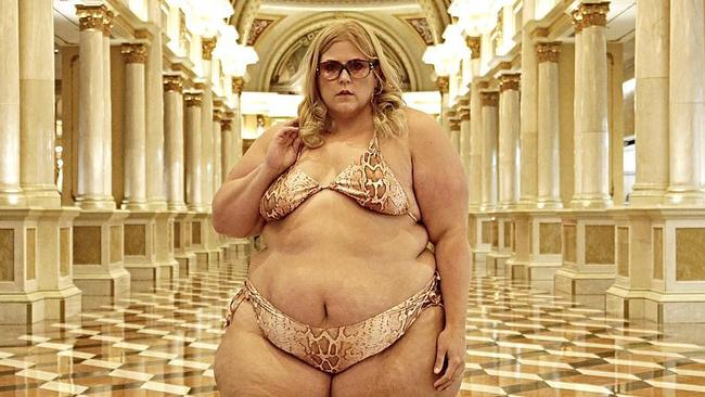 Plus size model, Glitter and Lazers, told to 'cover up' on ...