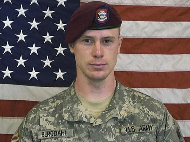 Being treated in a military hospital ... The US Army's Sgt. Bowe Bergdahl from an old military image.