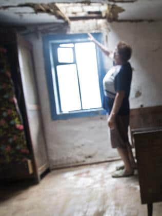 """Body number 26"" fell through the roof of Tipunova's kitchen. Picture: Ella Pellegrini"