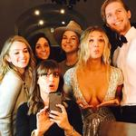 "Kaley Cuoco ... ""Heading to the Golden Globes with my golden globes, good job team!"" Picture: Instagram"
