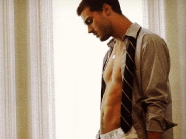 Jamie Dornan in Fifty Shades of Grey. Meh.