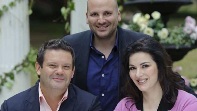 Flashback ... Lawson filmed one episode alongside Mehigan and Calombaris for season three of MasterChef Australia.