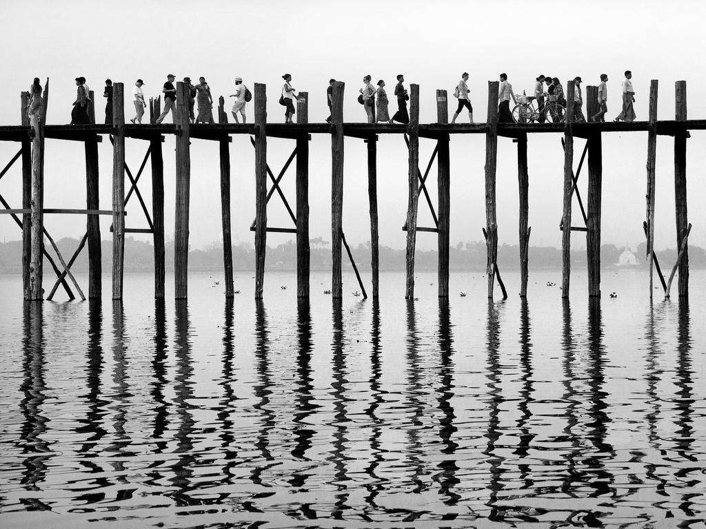 """Taken at the U Bein bridge in Myanmar from a boat on Taungthaman lake."" Picture: Lesley Hall, UK, Shortlisted, Open Competition, Travel, 2016 Sony World Photography Awards"