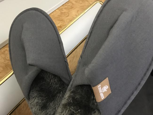 These slippers keep your feet toasty like no socks can. Picture: Celeste Mitchell