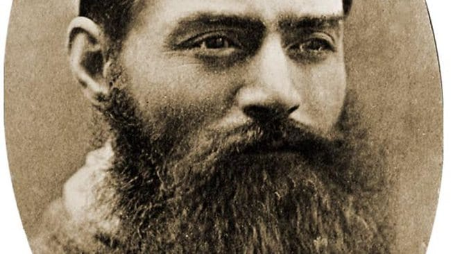 Ned Kelly, a man who did not have the time to look after his beard.