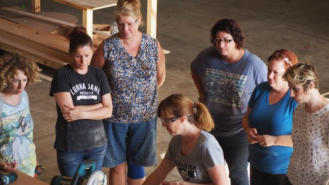 Women are being encouraged to learn a trade.
